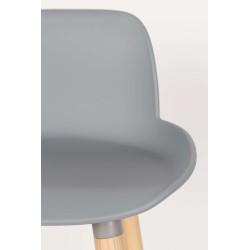 stołek barowy niski Albert Kuip, 89 cm jasnoszary, Zuiver
