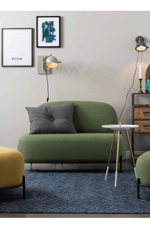 sofa 2-osobowa Polly, zielona, White Label Living